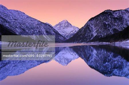 Lake Plansee at Sunrise, Tyrol, Austria
