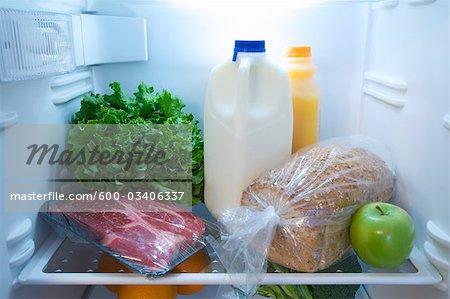 Fridge with Healthy Food