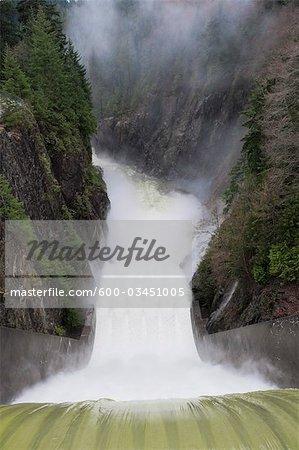 Capilano River and Cleveland Dam, Vancouver, British Columbia, Canada