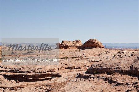 Plateau Rock, Page, Lake Powell, Glen Canyon Nation Recreation Area, Arizona, USA