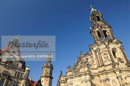 Dresden Castle, Katholische Hofkirche and Hausmann Tower, Dresden, Saxony, Germany