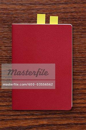 Red Journal on Desk