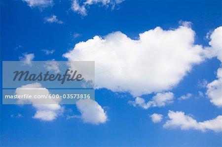 Clouds in Blue Sky, Thurgau, Switzerland
