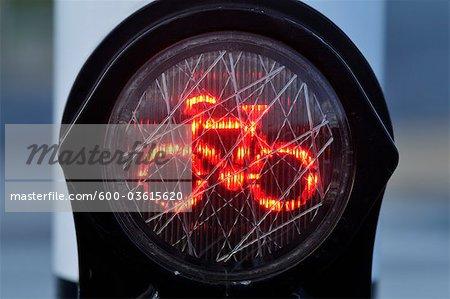 Red Bicycle Lane Light, Amsterdam, Netherlands