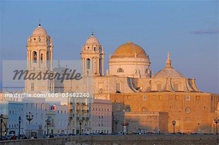 Campo del Sur with Cadiz Cathedral, Cadiz, Cadiz Province, Andalusia, Spain