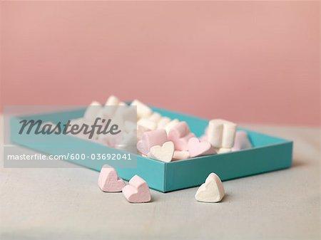 Box of Heart-shaped Marshmallows