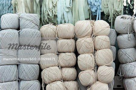 Yarn, Muxiyuan Fabric Market, Fengtai District, Beijing, China