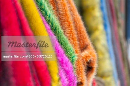 Close-up of Fabrics, Muxiyuan Textile Market, Fengtai District, Beijing, China