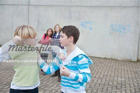 Teenagers Fighting