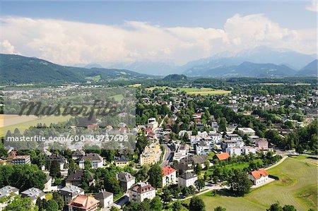 Old Town, View From Hohensalzburg Castle, Salzburg, Salzburger Land , Austria