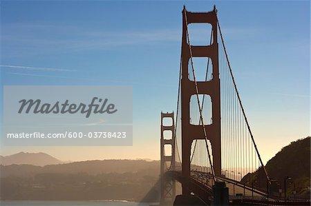 View of Golden Gate Bridge from North Vista Point, San Francisco, California, USA