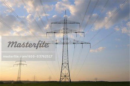 Electricity Pylon, Wertheim, Baden-Wurttemberg, Germany