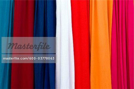 Fabric, Dyers Souk, Medina, Marrakech, Marrakech-Tensift-El Haouz Region, Morocco