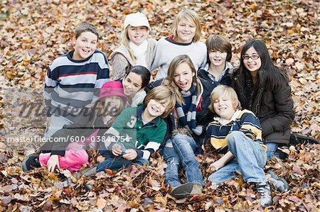Portrait of Children in Autumn