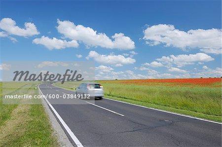 Road through Farmland, Franconia, Bavaria, Germany