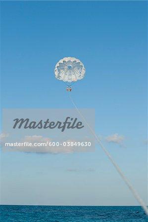 Paragliding, Reef Playacar Resort and Spa Hotel, Playa del Carmen, Quintana Roo, Yucatan Peninsula, Mexico