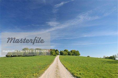 Dirt Road, Usseln, Willingen, Waldeck-Frankenberg, Hesse, Germany