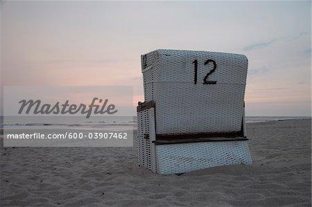 Beach Chair, Rantum, Sylt, North Sea, Germany