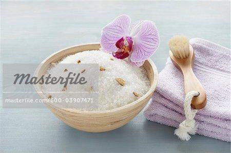 Bath Salts and Scrub Brush