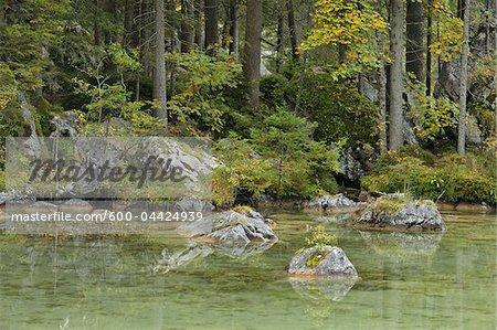 Lake Hintersee, Berchtesgaden National Park, Bavaria, Germany