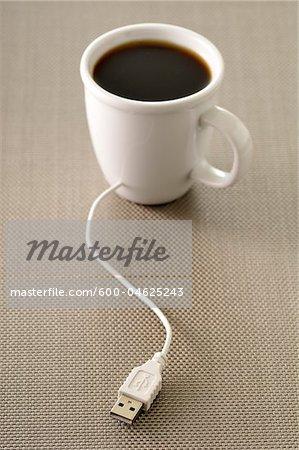 USB Plugged into Coffee Cup