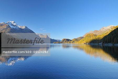 Silsersee, Engadin, Canton of Graubunden, Switzerland