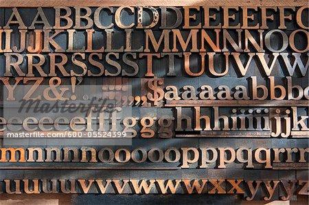 Set of Wooden Letterpress