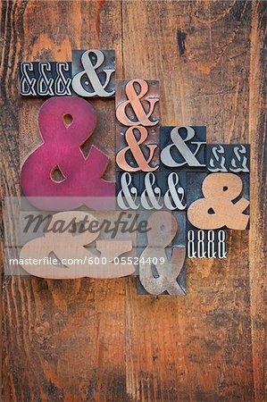 Letterpress Ampersands