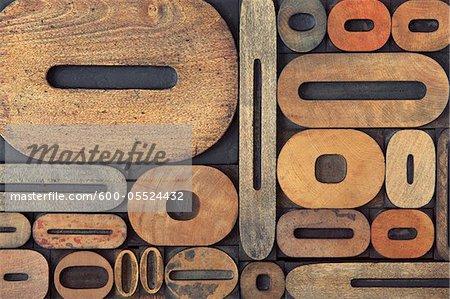 Letterpress Zero's and O's