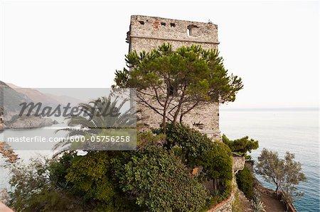 Torre Aurora, Capuchin Monastery, Monterosso al Mare, Cinque Terre, Province of La Spezia, Ligurian Coast, Italy