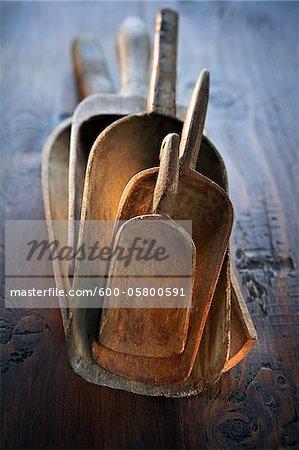 Wooden Vintage Scoops, Ontario, Canada