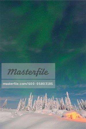 Northern Lights, Nissi, Nordoesterbotten, Finland