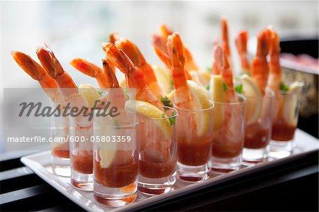 Tray of Shrimp, Toronto, Ontario, Canada