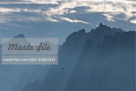 View from Pordoi Pass, Dolomites, South Tyrol, Trentino-Alto Adige, Italy