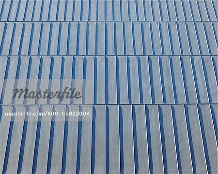 Corrugated Tin Roof, Gardermoen Airport, Gardermoen, Ullensaker, Akershus, Norway