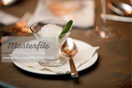 Lime Sherbet Dessert at Wedding