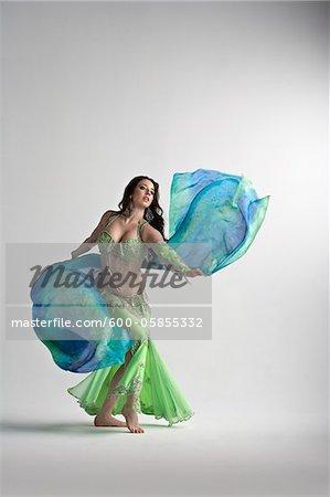 Woman Belly Dancing