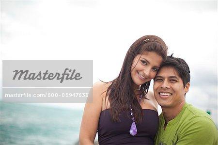 Portrait of a Couple at Beach, Jupiter, Palm Beach County, Florida, USA
