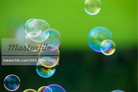 Bubbles Floating in Air, Salzburg, Austria