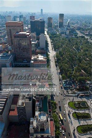 Street and Alameda Central, Distrito Federal, Mexico City, Mexico