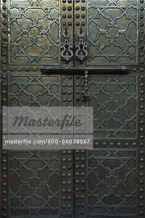 Brass Door, Traditional Souk, Marrakech, Morocco