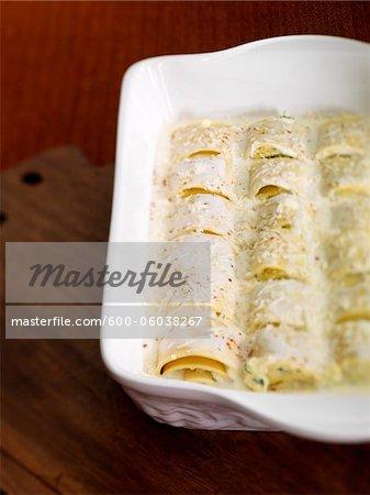 Cheesy Rolled Pasta Dish