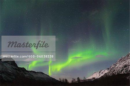 Northern Lights near Tromso, Troms, Norway
