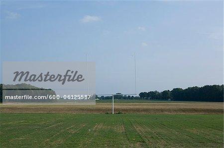 Empty Football Field and Goal Post, Cadiz, Indiana, USA