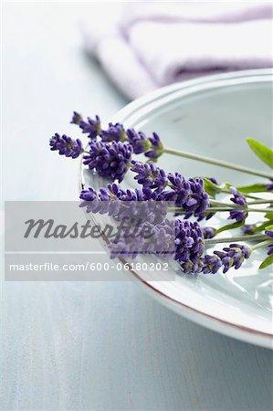 Lavender Flowers in Bowl
