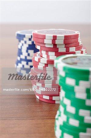 Stacks of Poker Chips