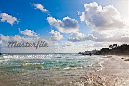 Water at Shoreline, Majorca, Spain
