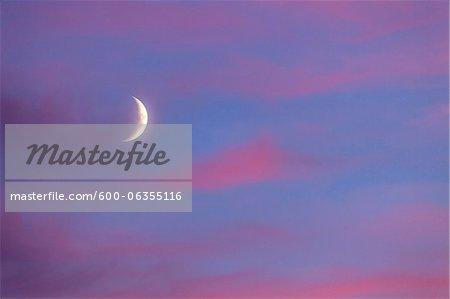 Crescent Moon, Maine, USA