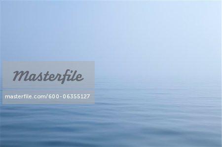 Ocean and Fog, Maine, USA