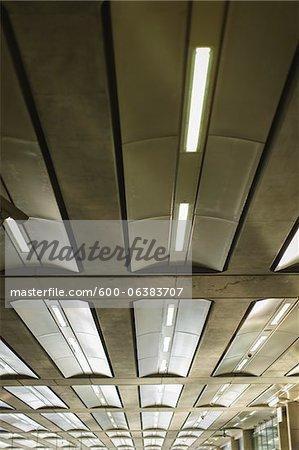 Lights on Ceiling, St Pancras Station, St Pancras, London, England